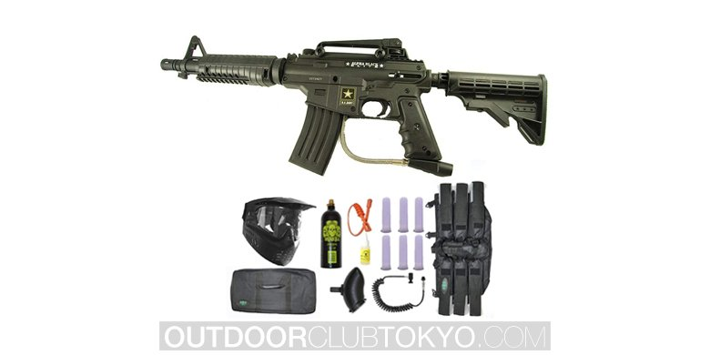 US Army Alpha Black Tactical Paintball Marker Gun Sniper Set
